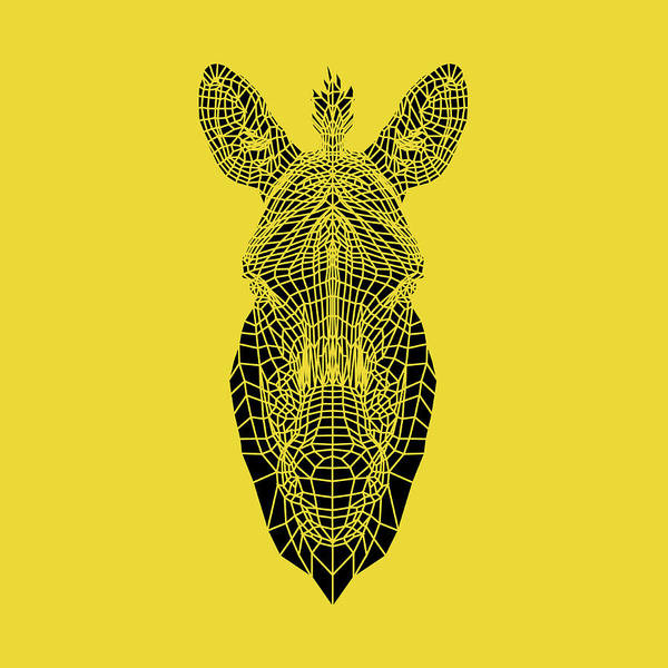 Wall Art - Digital Art - Yellow Zebra by Naxart Studio