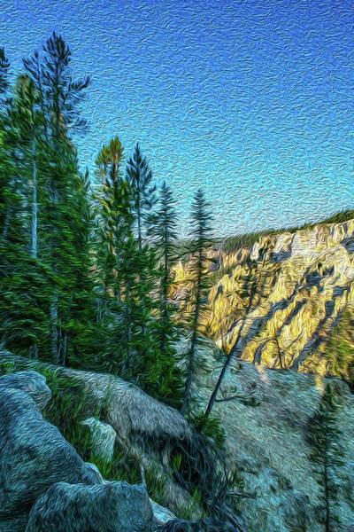Teton National Park Digital Art - Yellowstone Canyon by Aaron Geraud