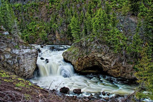 Firehole River Wall Art - Photograph - Yellowstone Firehole River Falls by Bill Wight Ca