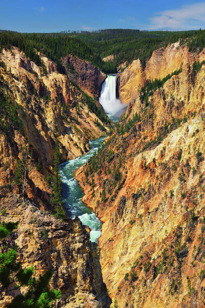 Photograph - Yellowstone Grand Canyon From Artist Point by Greg Norrell