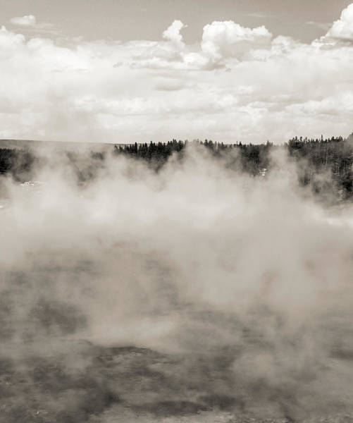 Photograph - Yellowstone Hot Springs Black And White by Dan Sproul