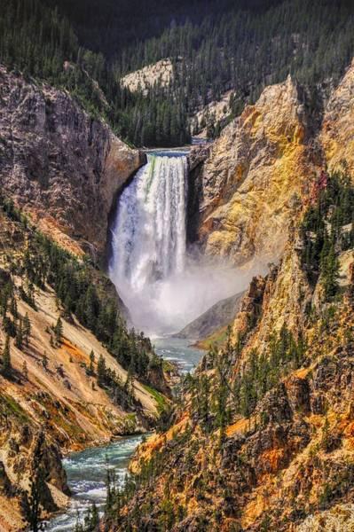 Photograph - Yellowstone Lower Falls by Chance Kafka