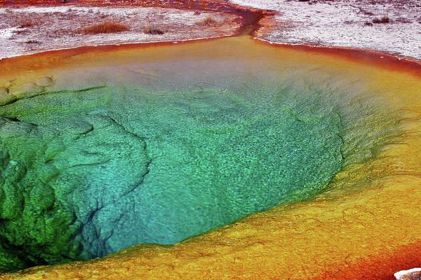 Morning Glory Photograph - Yellowstone - Lower Geyser Basin - by Photo By Raj Mittra