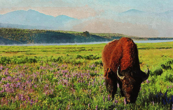Painting - Yellowstone National Park - 02  by Andrea Mazzocchetti