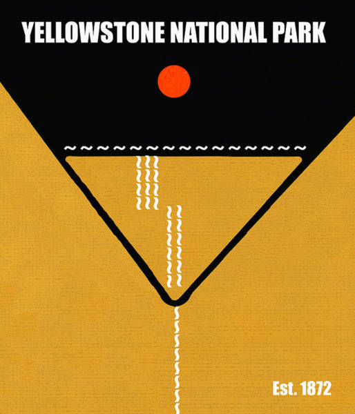 Wall Art - Mixed Media - Yellowstone N.p. M Series by David Lee Thompson