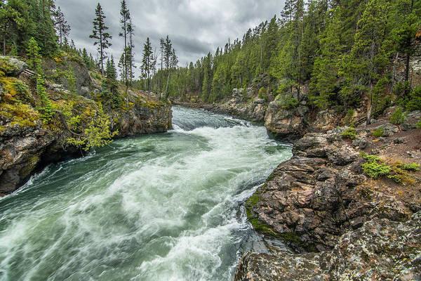 Photograph - Yellowstone River Falling by Matthew Irvin