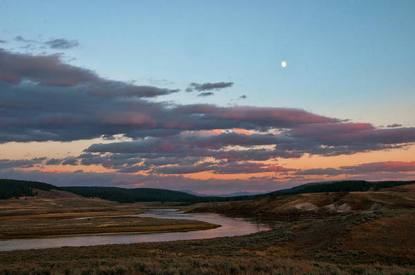 Photograph - Yellowstone River In Hayden Valley by Steve Stuller