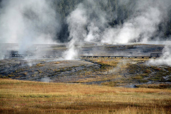 Photograph - Yellowstone Steam 03 by Bruce Gourley