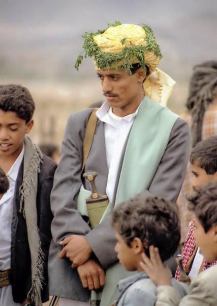 Photograph - Yemeni Bridegroom by Robert Woodward