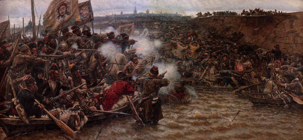 Wall Art - Painting - Yermak's Conquest Of Siberia, 1895 by Vasily Surikov