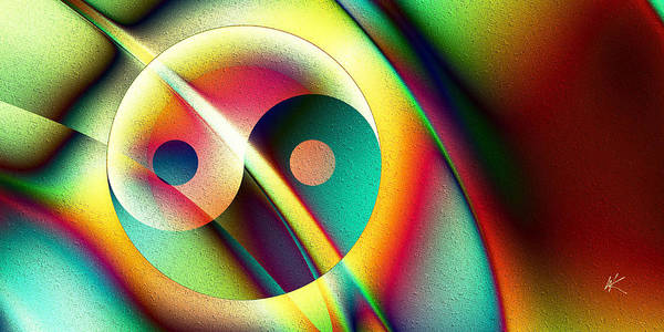 Digital Art - Yin And Yang Rainbow by Kiki Art