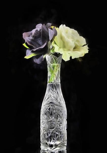 Digital Art - Yin And Yang Rose Still Life by JC Findley