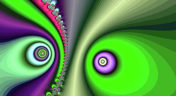 Digital Art - Yin Yang Green Fine Art by Don Northup
