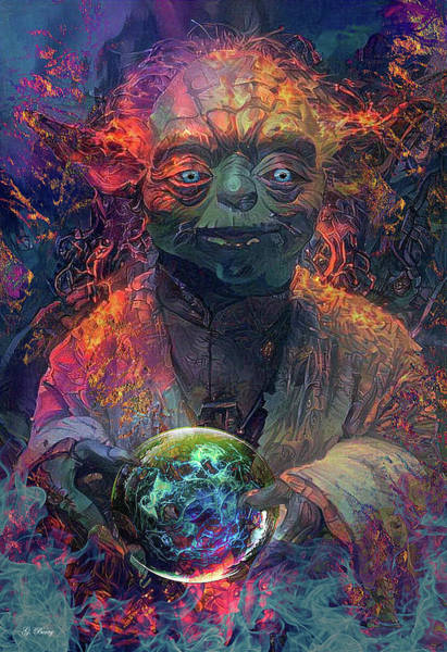 Empire Mixed Media - Yoda Sees Your Future by G Berry