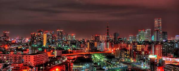 Kanagawa Wall Art - Photograph - Yokohama Night In Hdr by Copyright Artem Vorobiev