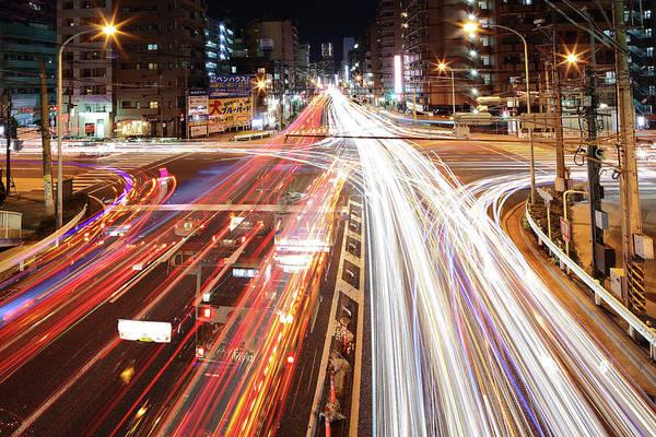 Rush Hour Photograph - Yokohama Stream by Spiraldelight