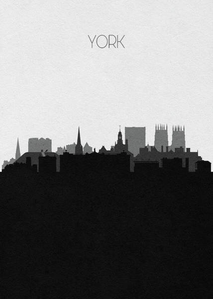 Wall Art - Digital Art - York Cityscape Art by Inspirowl Design