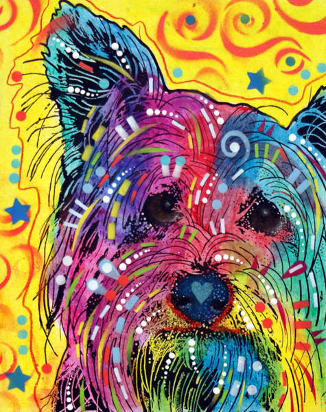 Yorkie Wall Art - Painting - York1 by Dean Russo Art