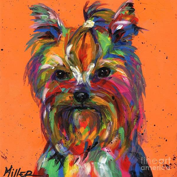 Wall Art - Painting - Yorkie by Tracy Miller