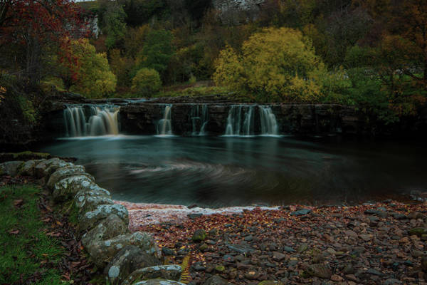 Wall Art - Photograph - Yorkshire Dales Waterfall. by Angela Aird