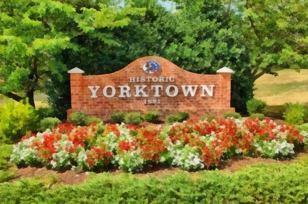 Wall Art - Painting - Yorktown Sign by Harry Warrick