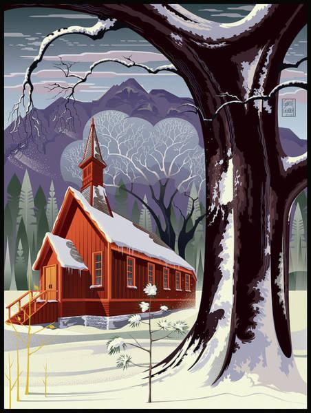 Wall Art - Digital Art - Yosemite Christmas by Garth Glazier