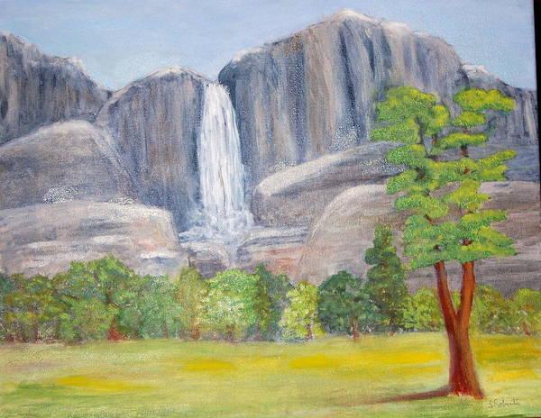 Wall Art - Painting - Yosemite Falls by Silvia Roberts