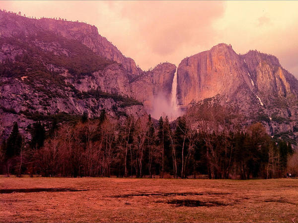 Photograph - Yosemite Falls View by Denise Taylor
