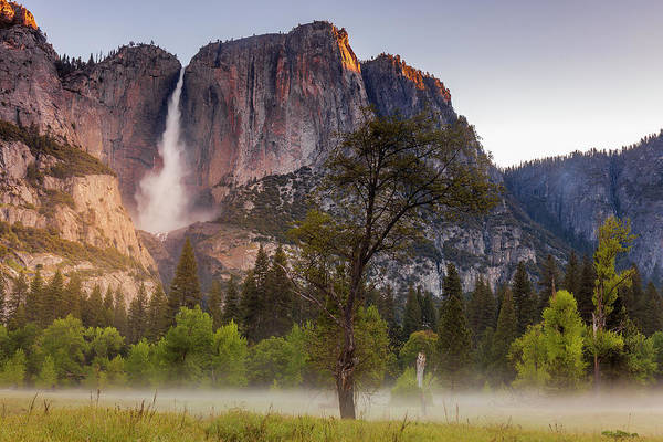 Wall Art - Photograph - Yosemite Meadow And Falls by Andrew Soundarajan