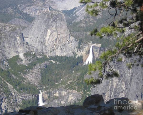 Photograph - Yosemite National Park Glacier Point Overlooking Twin Waterfalls by John Shiron