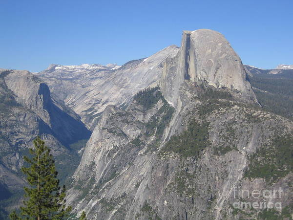 Photograph - Yosemite National Park Half Dome Rock ,, A Glacier Point Of View Panorama by John Shiron