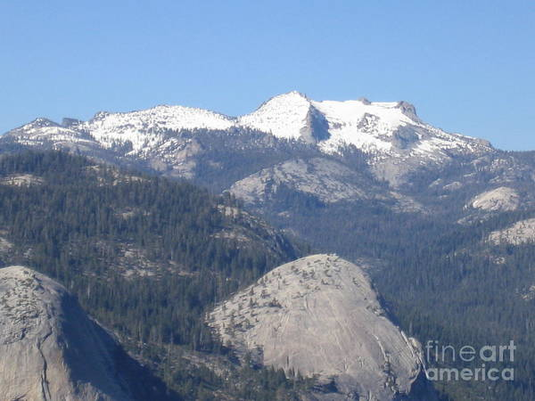 Photograph - Yosemite National Park Panoramic View Snow Capped Mountains by John Shiron
