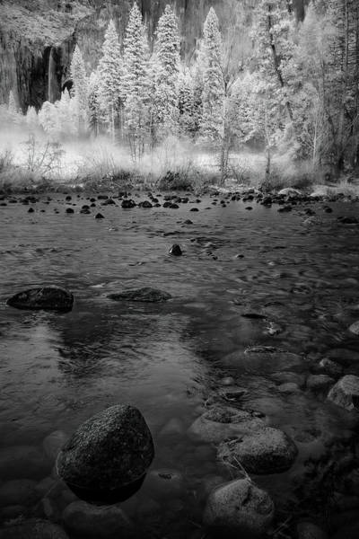 Photograph - Yosemite River In Bw by Jon Glaser