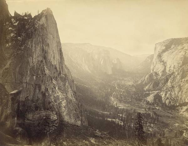 Wall Art - Photograph - Yosemite Valley by Carleton E. Watkins