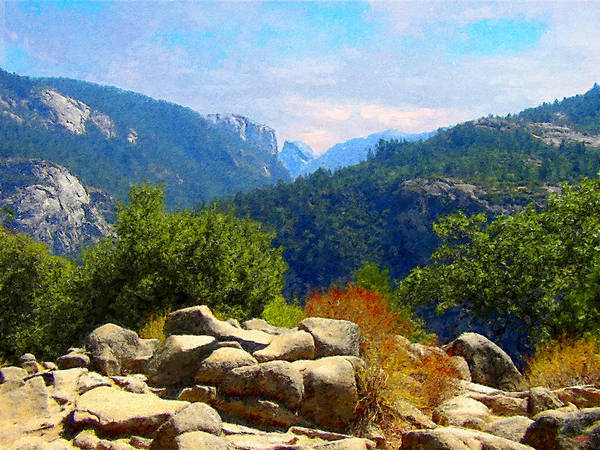 Digital Art - Yosemite Valley Corridor by Glenn McCarthy Art and Photography