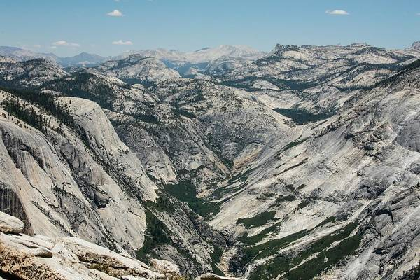 Dome Peak Photograph - Yosemite Valley, View From Half Dome by Alex E. Proimos