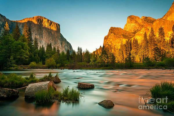 Yosemite Valley View Sunset Art Print