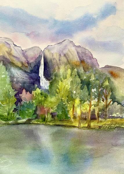 Painting - Yosemite Waterfalls by Hilda Vandergriff