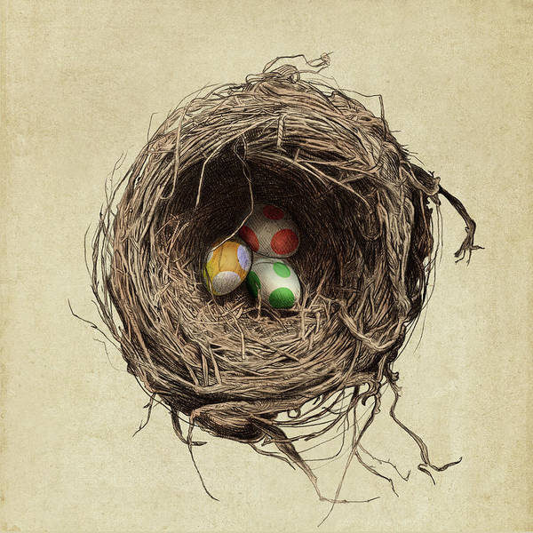 Wall Art - Drawing - Yoshi Eggs by Eric Fan