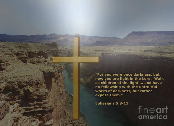 Digital Art - You Are Light In The Lord by Charles Robinson