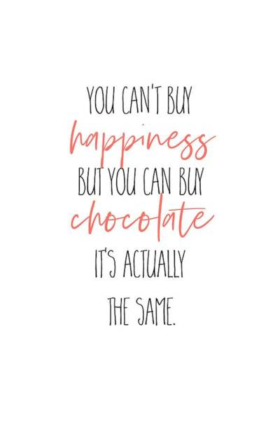 Wall Art - Digital Art - You Can't Buy Happiness - But Chocolate by Melanie Viola