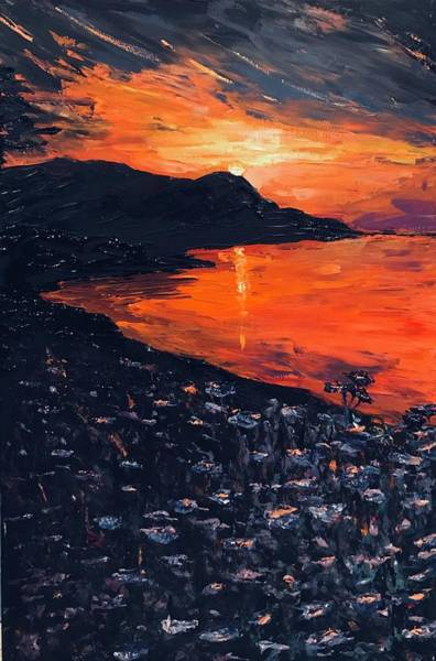 Painting - You Make The Sunset Shout For Joy by Ovidiu Ervin Gruia