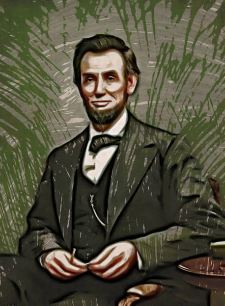 Painting - Young Abraham Lincoln  by Doc Braham