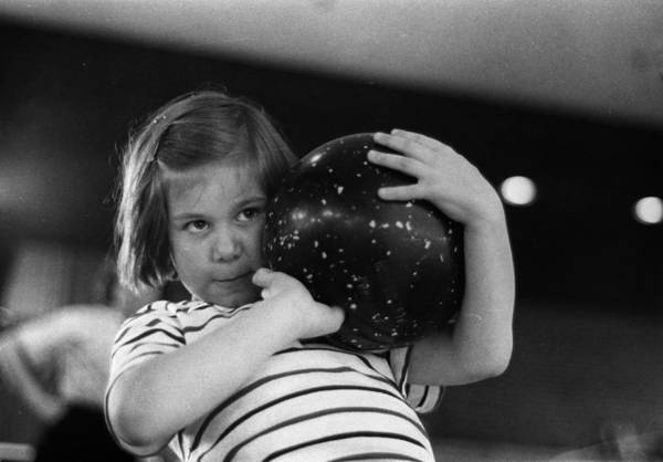 Ten Pin Bowling Wall Art - Photograph - Young Bowler by Nocella