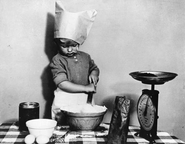 Scale Photograph - Young Chef by Fox Photos