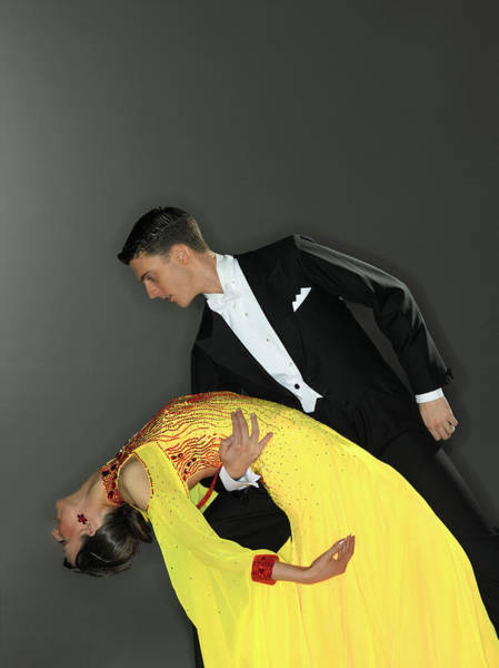 Wall Art - Photograph - Young Couple Ballroom Dancing, Profile by Kelvin Murray