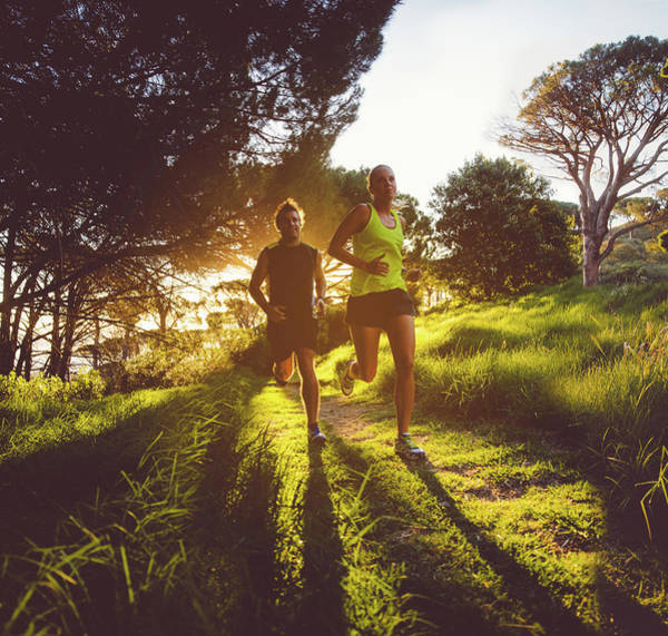 Young Couple Jogging Art Print