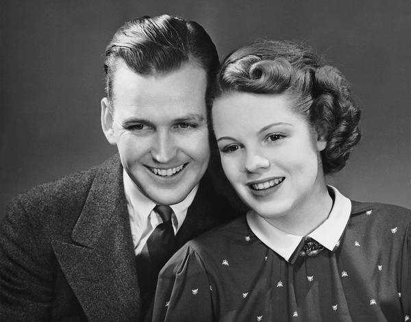 Heterosexual Couple Photograph - Young Couple Posing Together by George Marks