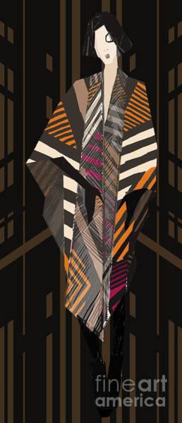 Fashionable Wall Art - Digital Art - Young Fashionable Model. Artistic by Alina Shakhovets