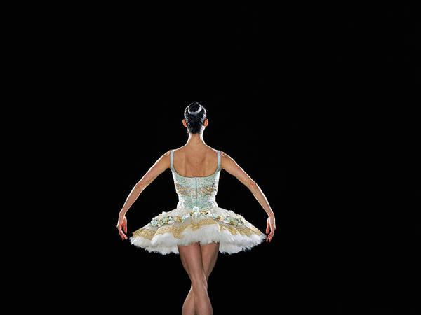 Wall Art - Photograph - Young Female Ballerina, Rear View by Thomas Barwick